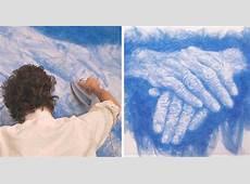 "Artist Irons Fabric To Create Stunning ""Paintings"" Video"