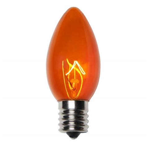 transparent gold c9 incandescent christmas light bulbs