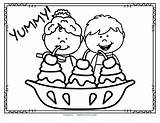 Ice Cream Coloring Theme Printables Activities Preschool Pages Kidsparkz Kindergarten sketch template
