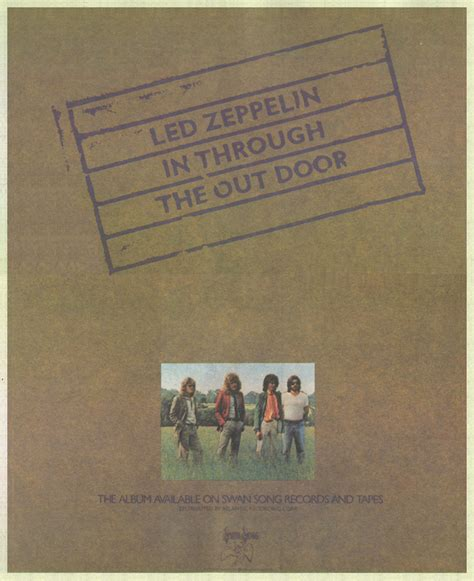 led zeppelin in through the out door album led zeppelin in through the out door