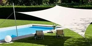 Protection Soleil Terrasse : voile d 39 ombrage pour un jardin design et frais ~ Nature-et-papiers.com Idées de Décoration