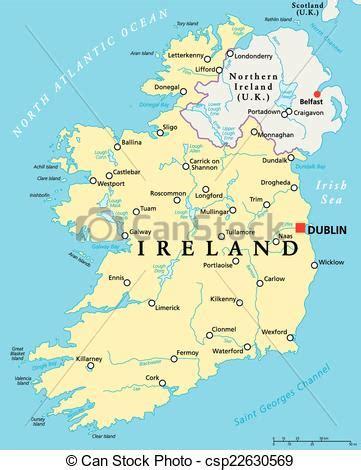 Carte Nord Ouest Détaillée by Clip Vecteur De Carte Politique Irlande Irlande