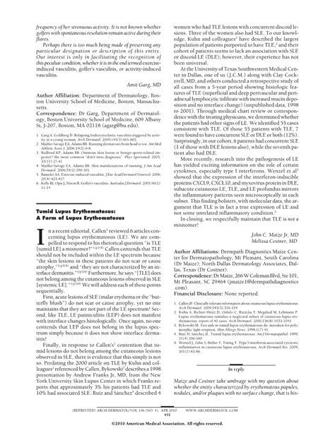 tumid lupus erythematosus a form of lupus erythematosus dermatology jama dermatology the