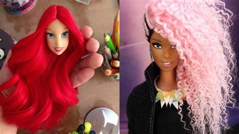 Barbie Hairstyle Tutorial 💓 Barbie Hair Transformation