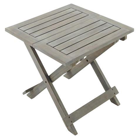 canape pliant bout de canapé pliant de jardin en acacia gris l 50 cm st