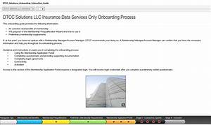 Dtcc Solutions Llc Insurance Onboarding Interactive Guide