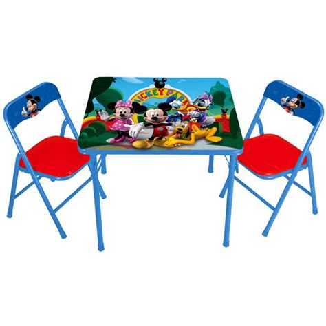 disney mickey mouse clubhouse activity table and chairs