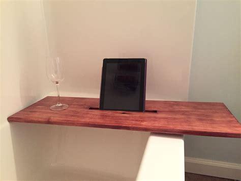bathtub tray  tablet holder  abfwoodworks  etsy