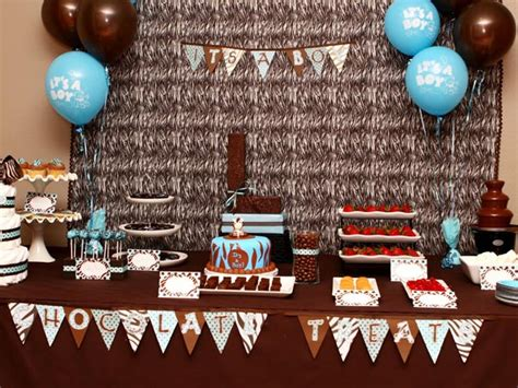 brown and baby blue baby shower decorations blue and brown baby shower decorations best baby decoration