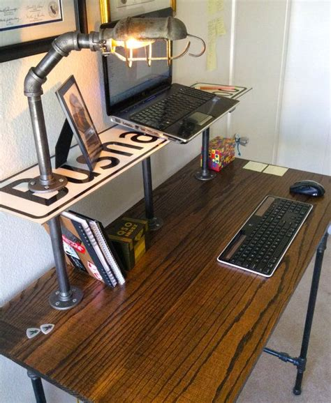 industrial style computer desk 316 best images about pipe desks on pinterest desk plans
