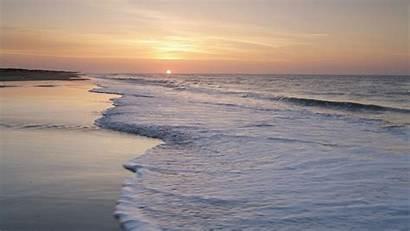 Carolina North Sunrise Sea Background Islands Beach