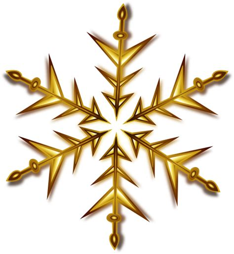 Transparent Background Gold Snowflake Png by Gold Snowflake Clip At Clker Vector Clip