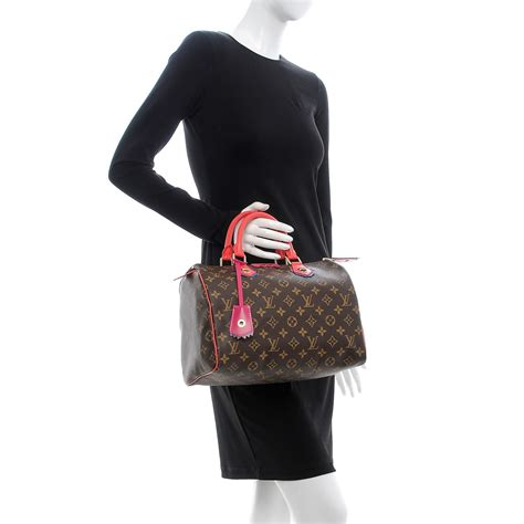 louis vuitton monogram totem speedy  flamingo