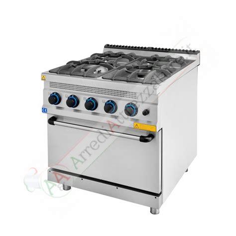 Cucina A Gas 4 Fuochi Con Forno