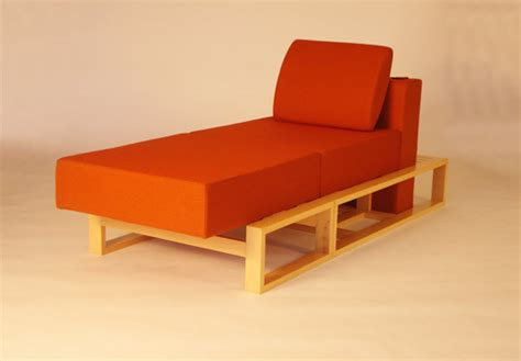 gig chair transforms into a bed chaise and ottoman