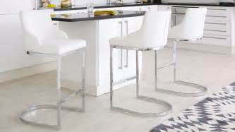 Chrome Bar Stool With Backrest