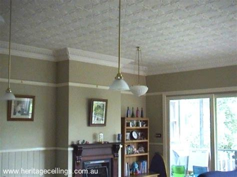 Pressed Tin Ceiling by Project Using Pressed Metal Panels On Two Ceilings