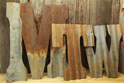 corrugated rustic metal letters rustic metal letters wall art
