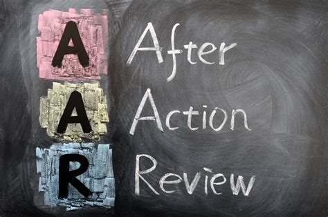 The Organizational Benefits Of After Action Review ( Aar