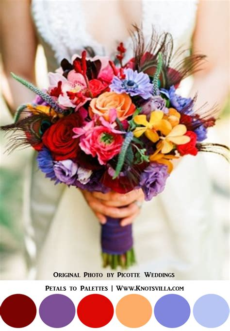 Colorful Bouquets 15 Most Colorful Wedding Bouquets So