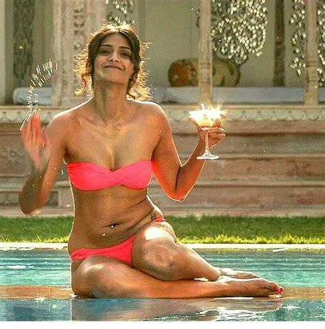 sonam bajwa swimsuit 99 best bollywood wardrobe malfunction images on pinterest