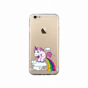 Coque Pour Iphone 6 : coque licorne caca arc en ciel transparente pour iphone 6 et 6s nico ~ Teatrodelosmanantiales.com Idées de Décoration