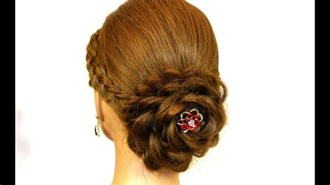 updo  long hair hair  rose prom hairstyle youtube