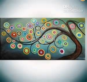Abstract Tree Oil Paintings On Canvas