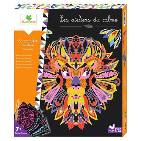les ateliers du calme scratch mandalas sycomore king jouet dessin et peinture sycomore