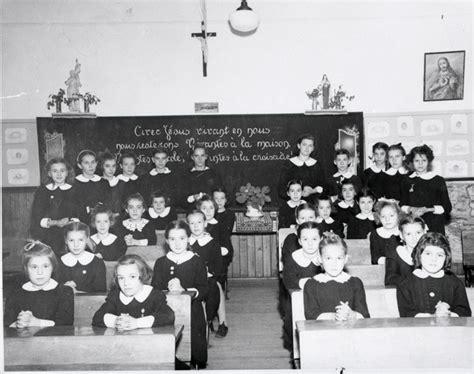 Classe du couvent de Rockland (Ontario), 1950.