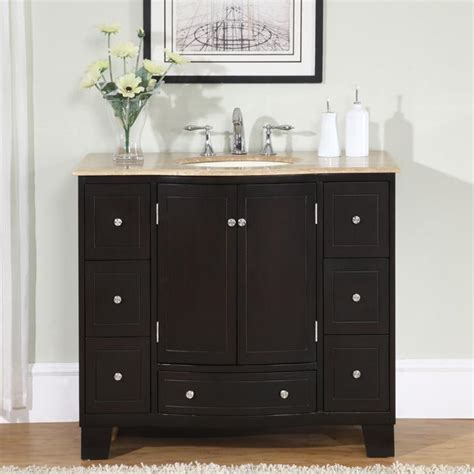 overstock bathroom vanities silkroad exclusive 40 inch single sink cabinet bathroom