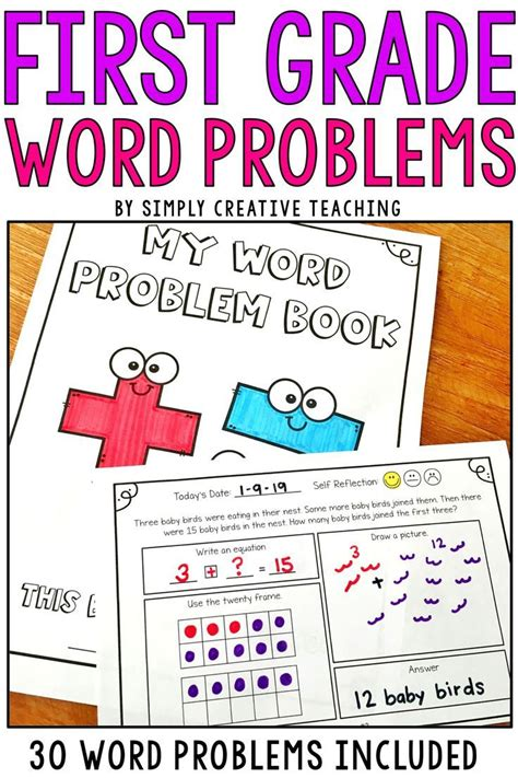 A free math test of word problems using addition and subtraction of numbers up to 10. 1st Grade Word Problems (With images)   Word problems ...