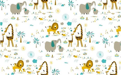 Baby Jungle Animals Wallpaper - jungle animals wallpaper nursery wall murals