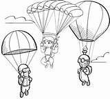 Parachute Coloring Fun Pages Coloringpagesfortoddlers Children Contest Elementary Favourite Door Christmas sketch template