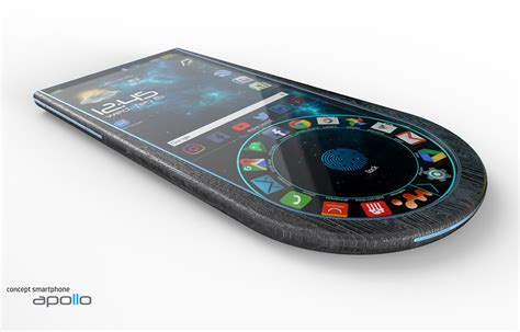 apollo 2 0 handy apollo 2 smartphone boasts rounded design with fingerprint sensor embedded into oled display