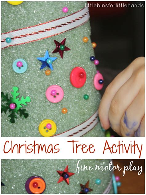 styrofoam tree decorating christmas craft activity