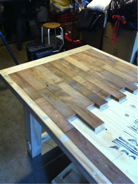 Wooden Tabletop Kitchen by How To Make A Wood Plank Kitchen Table Do It Yourself