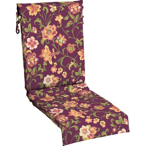 mainstays outdoor sling chair cushion purple floral
