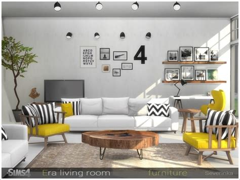 sims resource era livingroom furniture  severinka