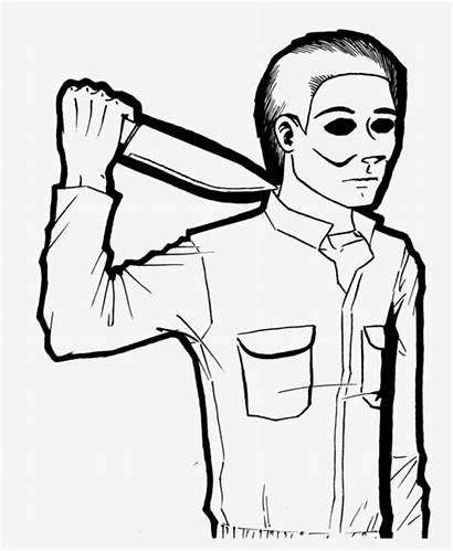 Myers Michael Drawing Knife Getdrawings Transparent Pngkey
