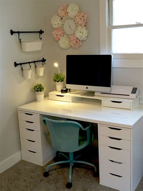 ikea bureau chambre craft room ikea alex linnmon diy crafts