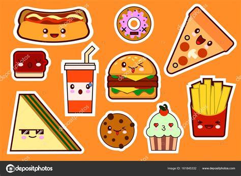 Moda De Fastfood, Conjunto De ícones Dos Desenhos Animados