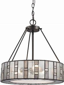 Elk ethan modern tiffany bronze drum hanging