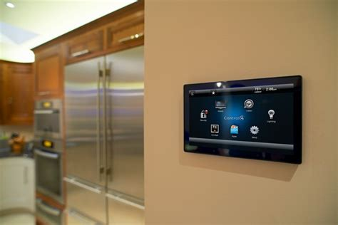 smart home touch screen kitchen orange county by launch systems