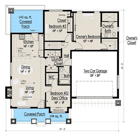 simple single story  sq ft house plan simple story map  square foot floor plans