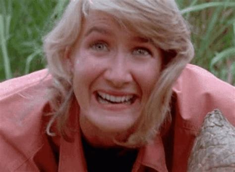 Laura Dern's mouth in Jurassic Park: GIF proves the ...