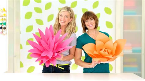 How To Make Giant Paper Flowers Youtube