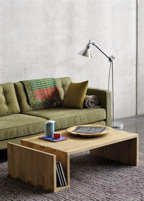 canapé zanotta table basse bois massif dans le salon en 55 designs supers