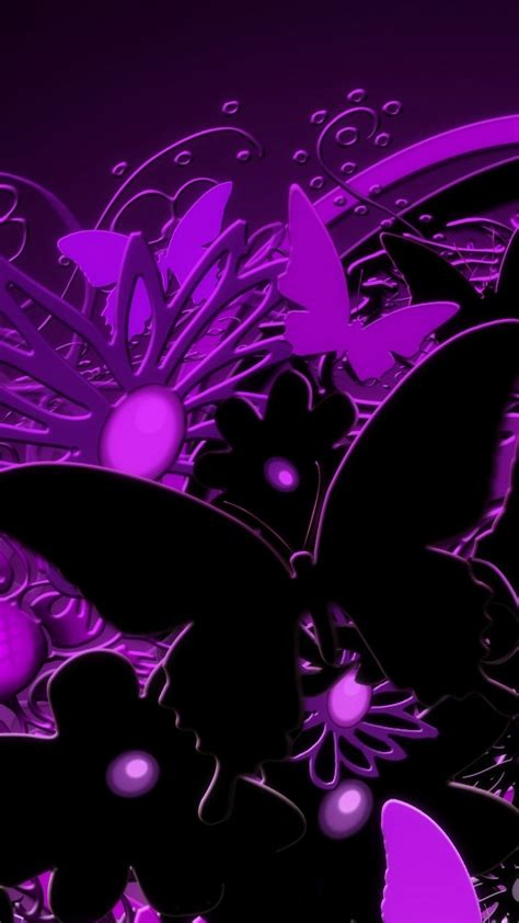Download, share or upload your own one! 3D Purple Butterfly iPhone Wallpaper | 2020 3D iPhone ...