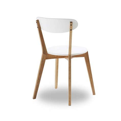 chaise blanc chaise bois et blanc